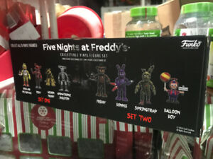 Five Nights at   Freddy's Collectible  Vinyl Figure Set