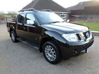 2014 Nissan Navara 3.0dCi V6 Outlaw, Automatic, 4x4 Pickup, Black, 28000 miles