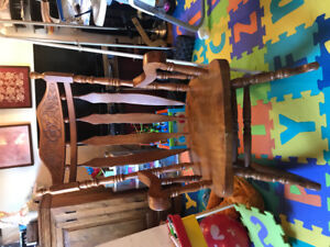 Solid Oak antique rocking chair in great condition!