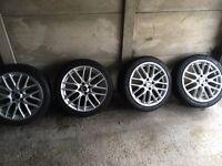 "17"" mini John cooper works alloys with tyres"