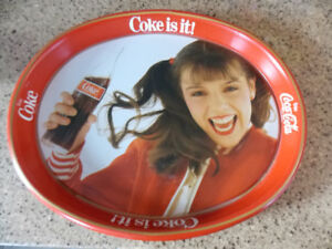"""Coca Cola """"Coke is it"""" Metal Tray  (1980's) - in mint condition"""