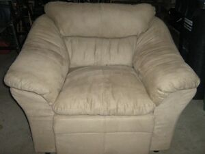 New Beige Plush Chair