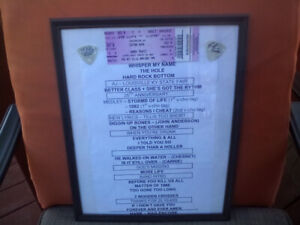 Authentic guitar picks Randy Travis framed