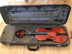 Full size violin, bow and vintage case