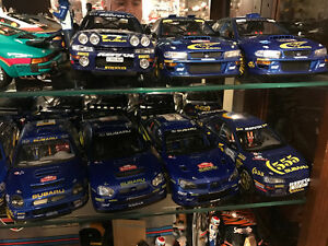 1/18 DIECAST AUTOART/SUNSTAR SUBARU STI WRC COLLECTION