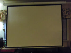 "90"" Electric/Remote controlled Projection Screen"