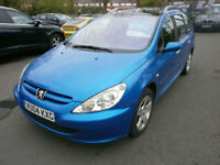 Peugeot 307 SW 2.0HDi 90 ( 7st ) ( dig a/c ) 2004MY SE P/X TO CLEAR DRIVES WELL
