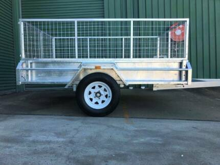 8x5 Box Trailer Upgradeable. Incl 600mm cage!! Tipper and Tough!!