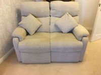 Two seater electric recliner sofa and two chairs