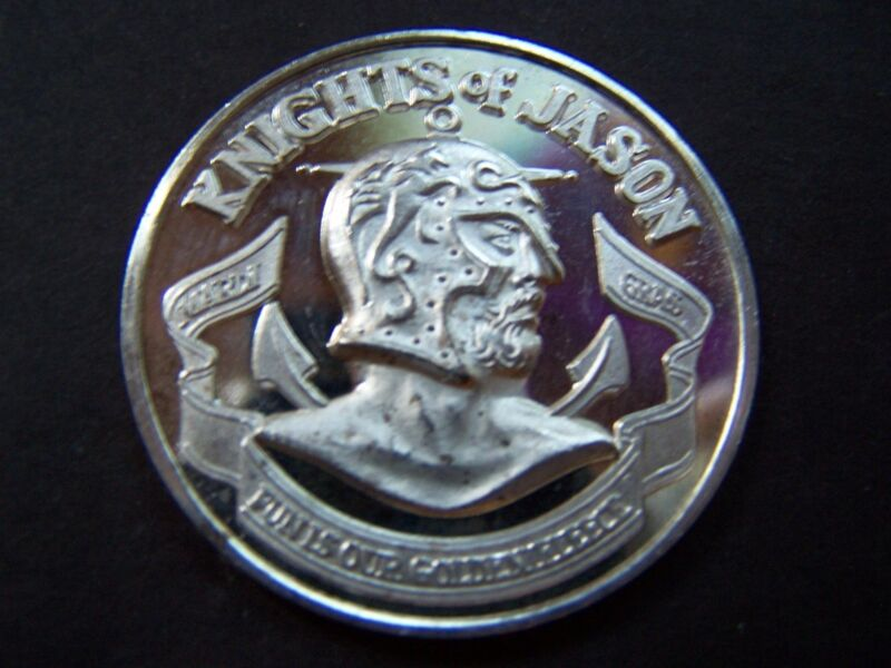 XXRare 1974 Jason Fine Silver High Relief ENGRAVED Mardi Gras Doubloon-SPINNER