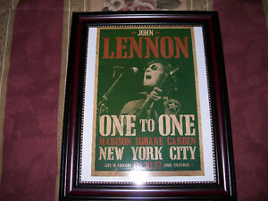 John Lennon - One To One 1972 Concert in New York - Framed Print West Island Greater Montréal image 1
