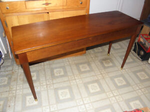 Mid Century MCM Retro Walnut Piano Bench Storage Table NOT TEAK