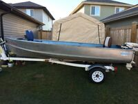 14' fishing/hunting boat and trailer.