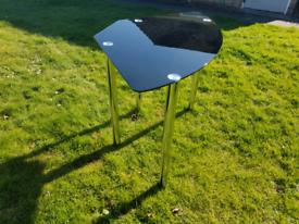 Corner desk glass top