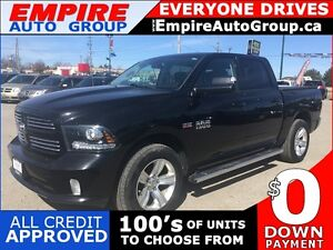 2013 RAM 1500 SPORT * 4WD * LEATHER * SUNROOF * REAR CAM * NAV *