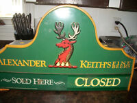 Very old Alexander Keith Open and Closed sign