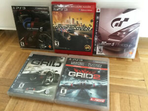* Jeux Ps3: GT 5 - GRID 1 - 2 - Need for Speed Undercover...