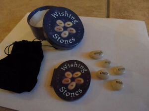 Wishing stones good luck charm set with booklet New in box