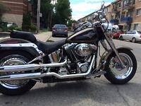 Harley-Davidson Fatboy full chrome. Négociable. Faut voir!