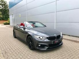 2015 65 reg BMW 420d M Sport Convertible Grey + RED Leather + M Performance Kit