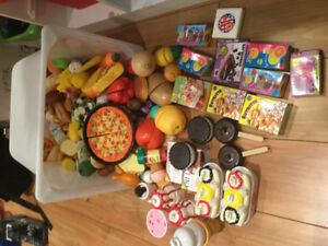 Plastic food for play time