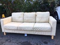 Three Seater Sofa - Cream Leather!