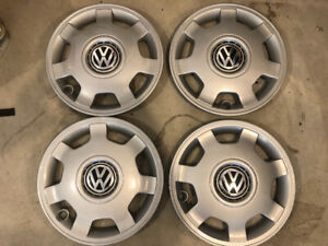 """Brand New Volkswagen 15"""" rims and caps for a Jetta 1993 to 1998"""