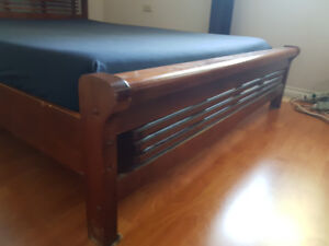 Wood Bed frame Queen size