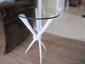 Glass-top Side Table (now only 1 available)
