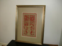 Inked Leather Mayan Pictures Customed Framed
