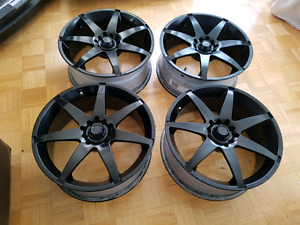 Set of 4 17 black rims for sale universal