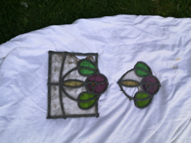 STAINED GLASS WINDOW PIECES **SPARES OR REPAIR **