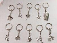 10 x keyrings made with Tibetan silver charms