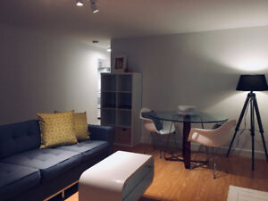 Fully Furnished 2 bed/1bath modern suite. MUST SEE!!