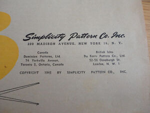 Vintage 1945 Simplicity Sewing Book for Beginners and Experts 68 London Ontario image 4