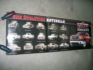 Poster / Affiche GMC Sierra 2007 + evolution 1936-2007 West Island Greater Montréal image 1