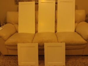 5 brand new cupboard doors with new hinges