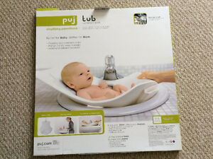 Puj Soft Infant Bath Tub in White Colour-NEW In The Package)
