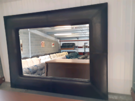 Brown Leather Mirror by Next