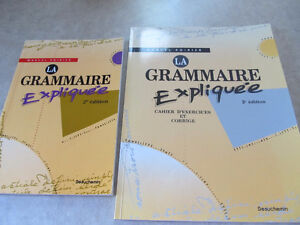 LIVRE LA GRAMMAIRE EXPLIQUÉE +CAHIER D'EXERCICES, Marcel Poirier