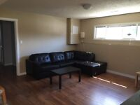 Bright two bedroom basement suite available October 1st