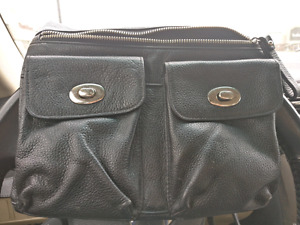 Used danier leather cross body bag