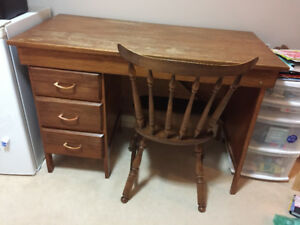Desk with Chair - Great solid wood DIY