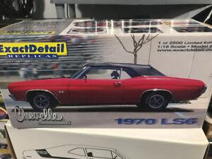 Chevrolet Chevelle 1970 LS6 Exact detail 1 de 2500 diecast 1/18