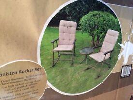 New boxed garden rocker set