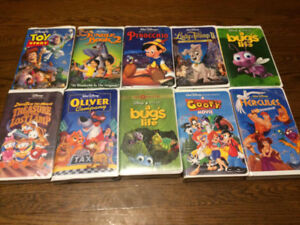 Vintage Walt Disney VHS Tapes (10) - 1991-2000