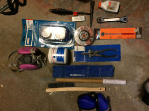 Welding tools and box