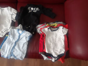 Baby clothes for sale. Various onesies and sleepers