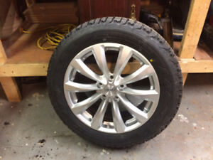 """""""brand new 17"""" firestone winterforce studded tires and rims"""