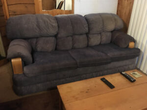 Blue couch from smoke and pet free home.